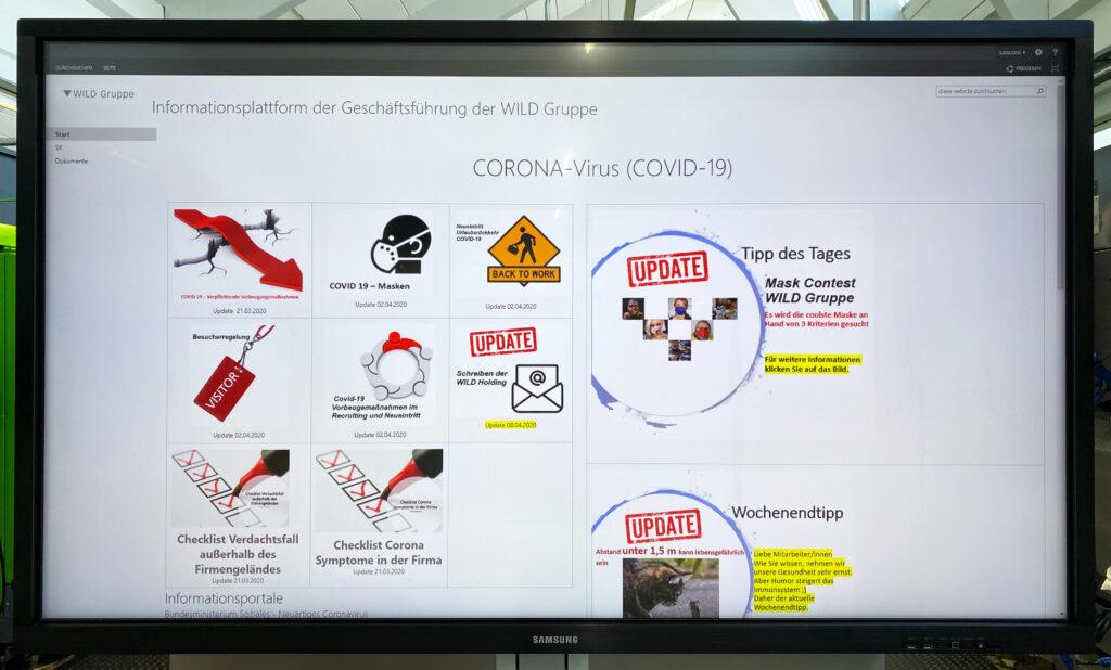 WILD Gruppe Informationsplattform fuer Mitarbeiter